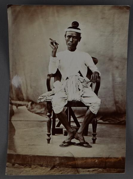 An unidentified gentleman (possibly Byedaik or Shwedaik secretary) at the court of King Mindon c. 1865