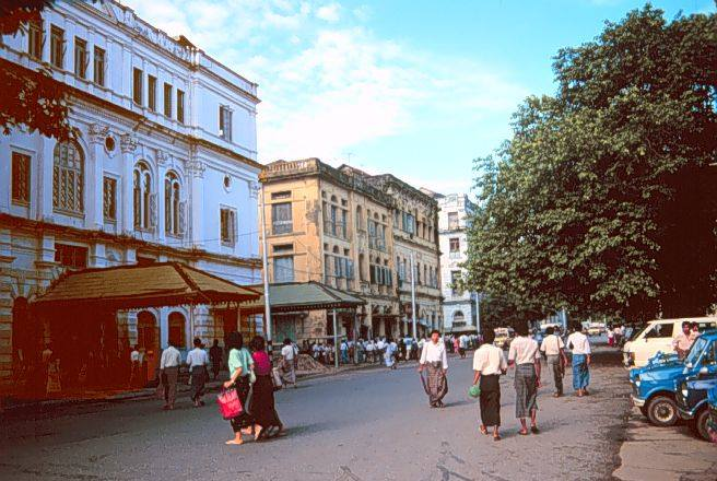 Merchant Street (Rangoon) c. 1980. (photo credit: Constance Wilson)