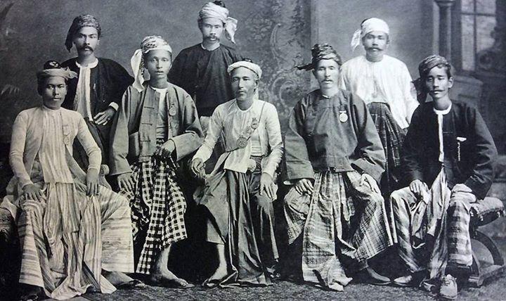 Burmese silversmiths c. 1885.