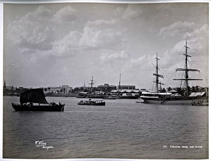 Rangoon from the river c. 1890.
