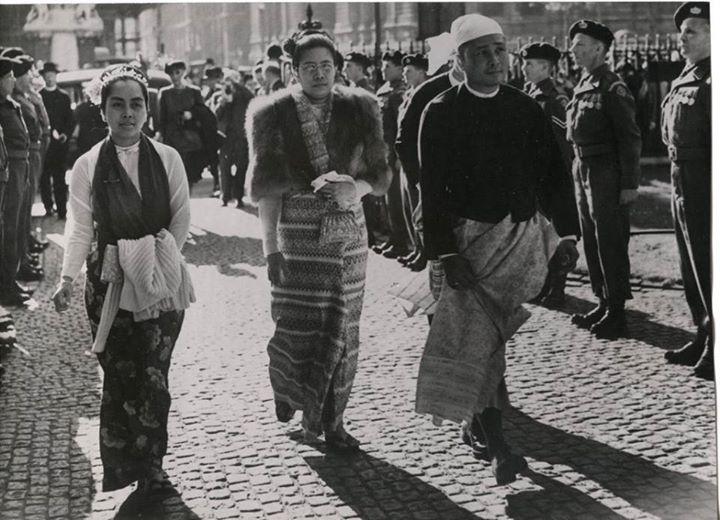 ၁၉ ၅၀ ပြည့်နှစ်က လန်ဒန်ရောက် ၀န်ကြီးချုပ်၊ ဒေါ်မြရီနှင့် ဒေါ်ခင်ကြည်