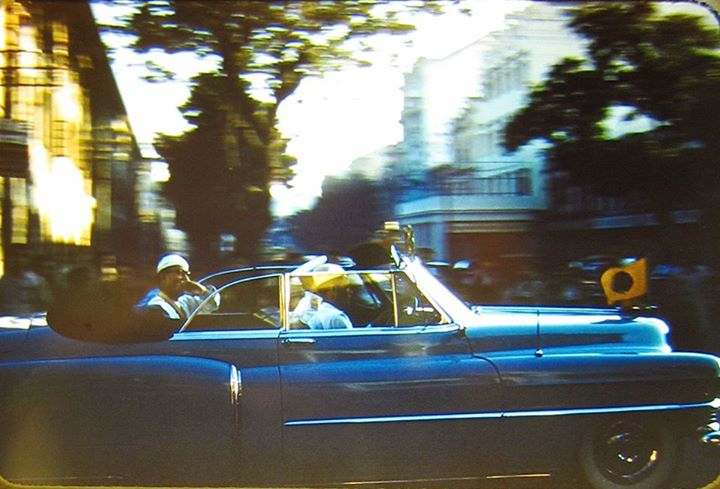 President U Ba U in His Series 62 Cadillac Convertible