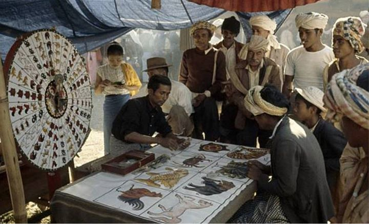 Time to gamble.  Somewhere in the Shan states, 1970.