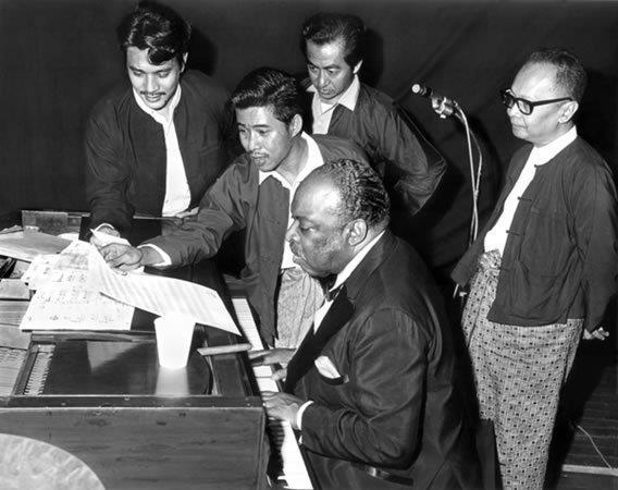 Legendary Jazz Musician Count Basie in Myanmar