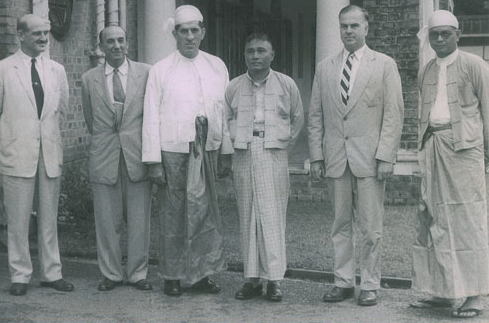 Foreign Advisors and Officials of Myanmar in the 1950s