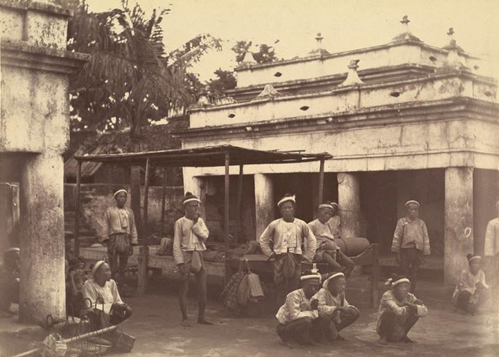 A photograph of the king's bodyguard taken shortly after the Third-Anglo Burmese War