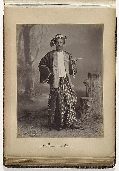 A portrait of a Burmese gentleman in 1887