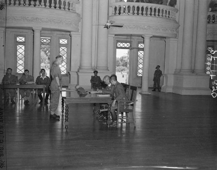 Japanese Surrenders at Government House, Rangoon