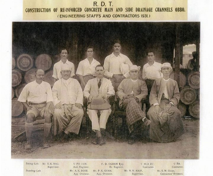 The men who built our drainage system: The drainage engineers of the Rangoon Development Trust (now YCDC) in 1931.