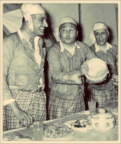 Government Leaders enjoying Thingyan in 1955