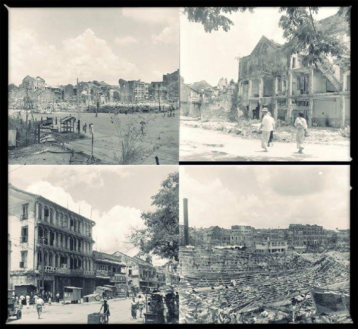 စစ်ဒဏ်ထိ ရန်ကုန်မြို့