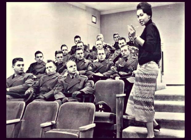Daw Aye Aye Than at the UN in 1961