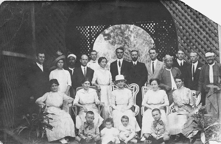 Americans and Burmese friends, Rangoon 1914