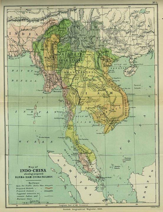 ၁၈၈၆ ခုနှစ်က အဆိုပြုခဲ့သော ရန်ကုန်-ဘန်ကောက် ရထားလမ်း
