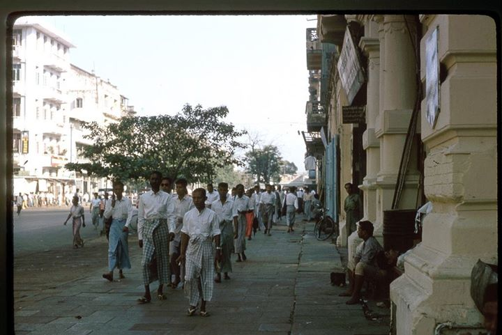 Rangoon 1964. A good city for walking. (photo credit Robert Garfias)