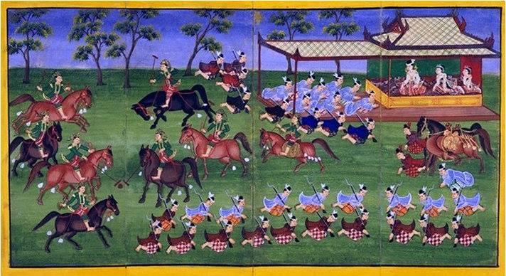၁၉ ရာစုအလယ်ပိုင်း အင်းဝနန်းတော်အတွင်းမှ မြန်မာပိုလိုကစားပွဲ