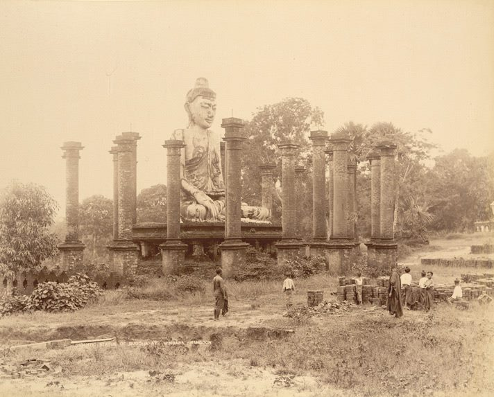 The 16th century Buddha at Wingaba c. 1890