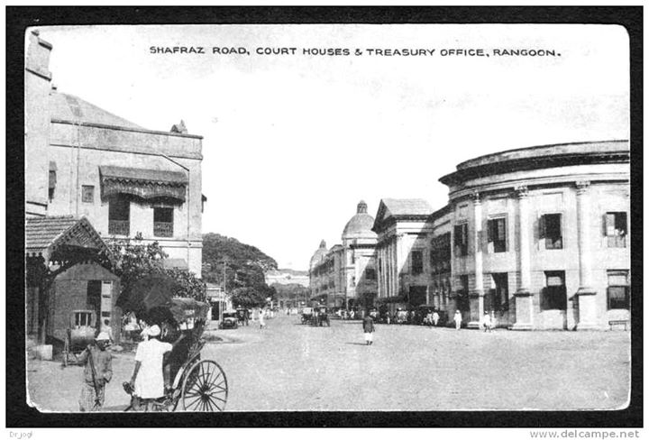 Shafraz Road Rangoon c. 1920.