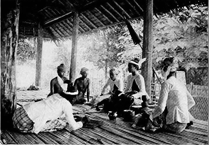 Traditional justice: a Myothugyi receiving a petition at his Yon c. 1890