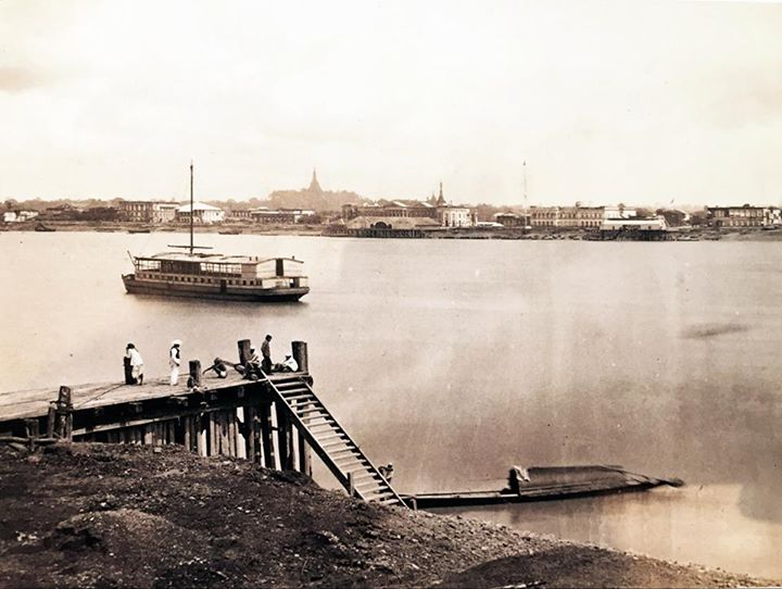 The Rangoon waterfront c. 1868 (by J. Jackson).