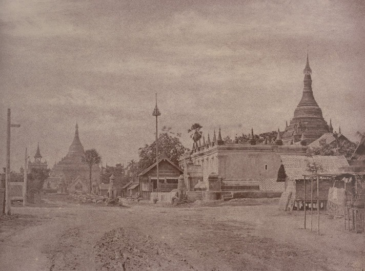 A street in Amarapura in 1855, when it was still the capital under King Mindon.