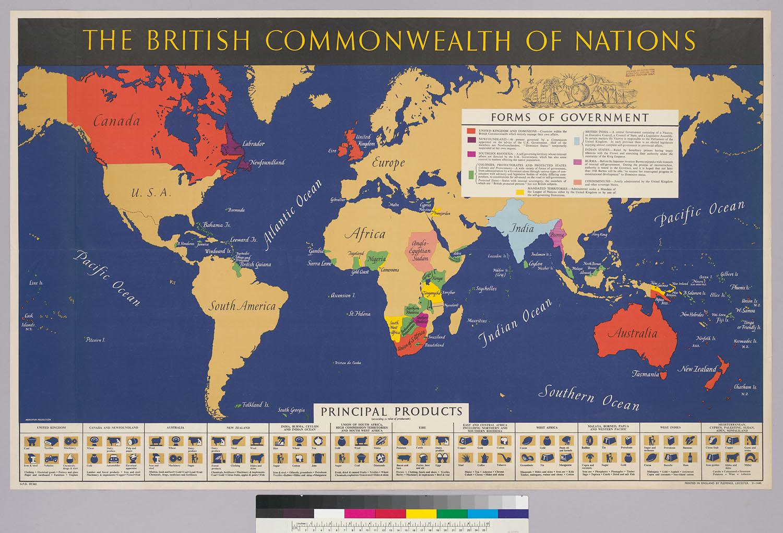 ၊ ၁၉၄၅ ခုနစ်က ဗြိတိသျှအင်ပါယာကြီး မြေပုံ။