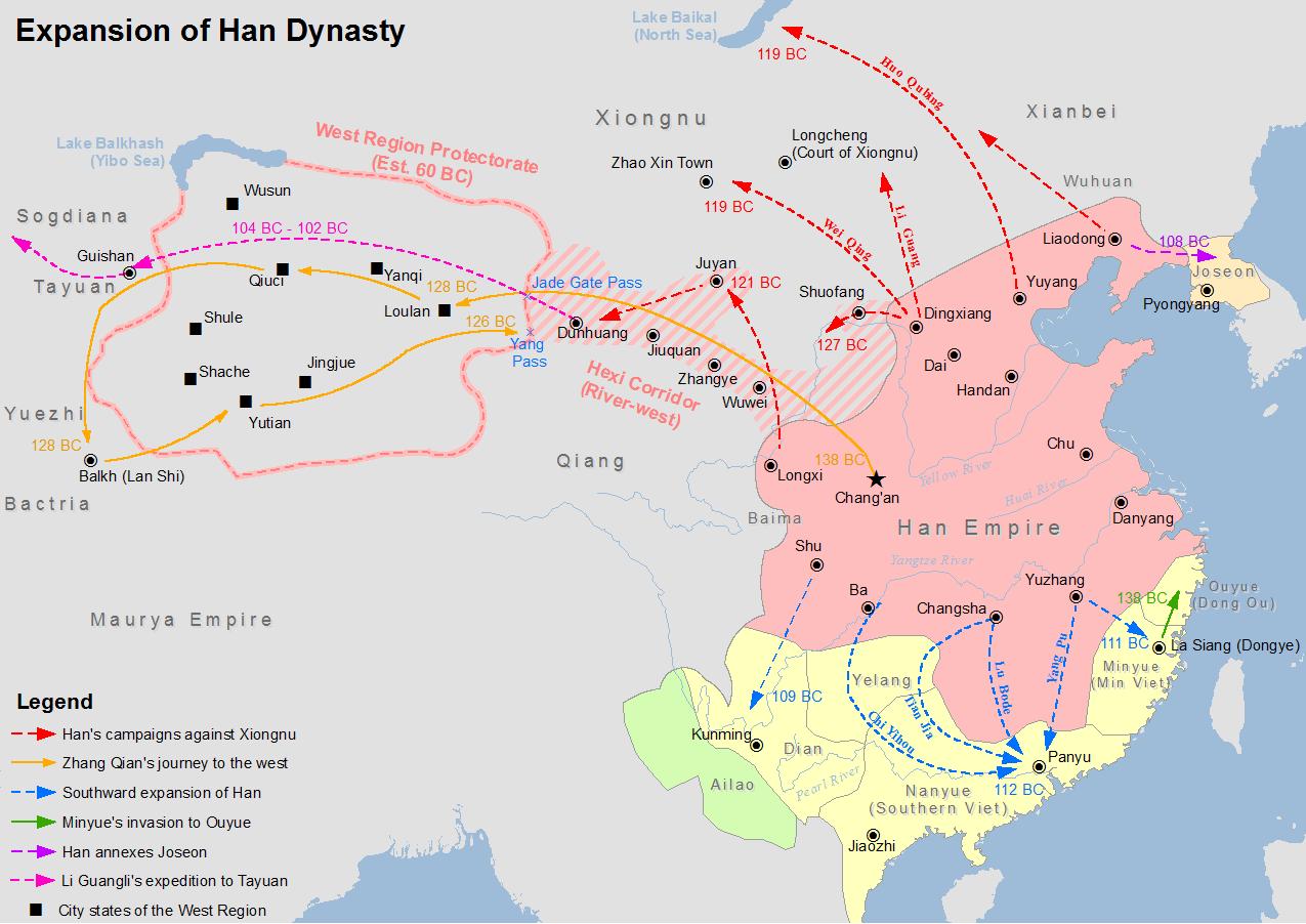 ဘီစီ ၂ ရာစုက တရုတ်နိုင်ငံကို ဟန်မင်းဆက် အုပ်စိုးခဲ့စဥ်